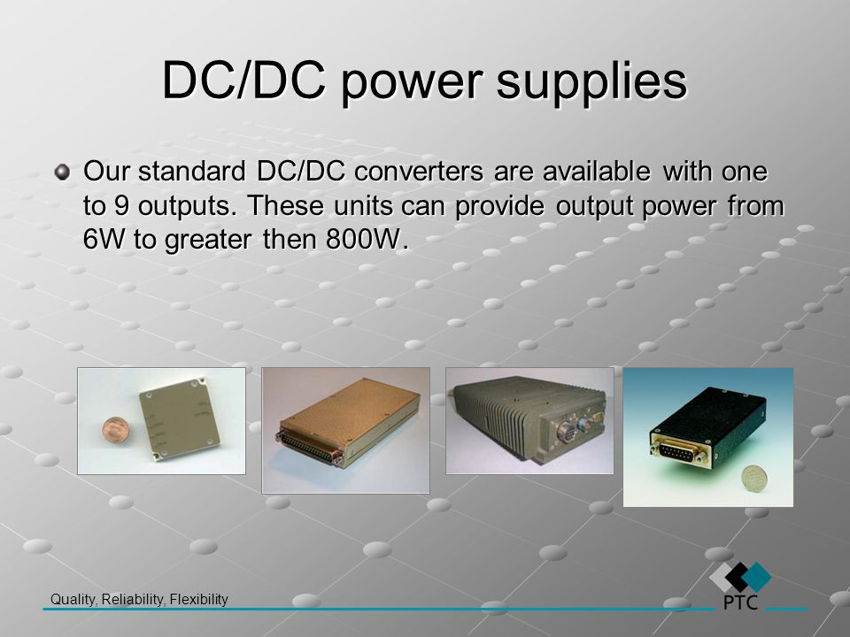 DC/DC power supplies