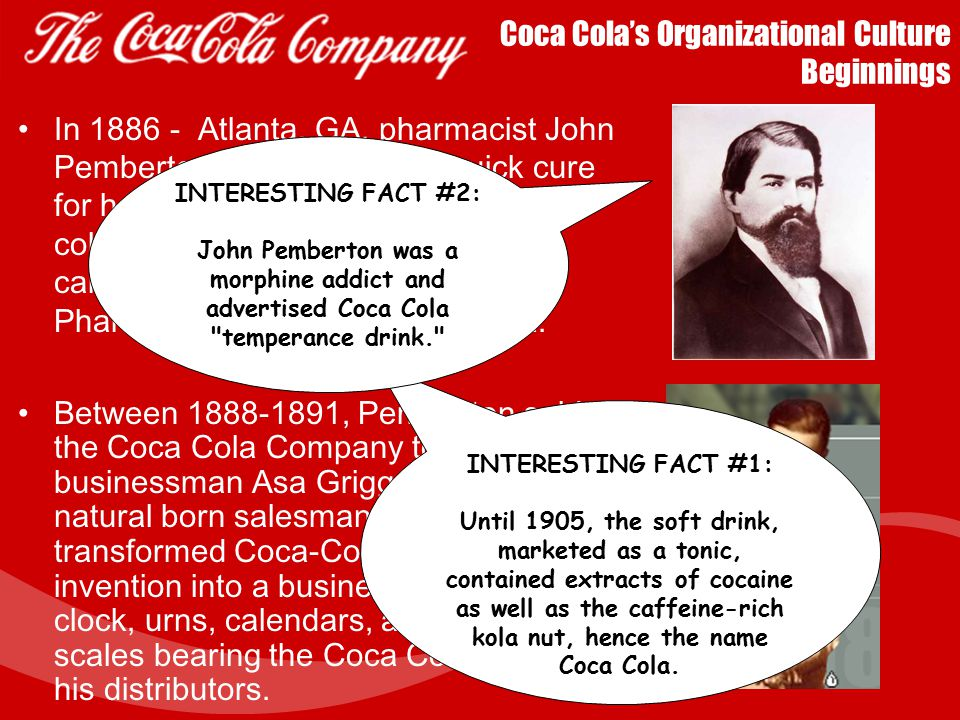 Coca Cola's Organizational Culture Beginnings
