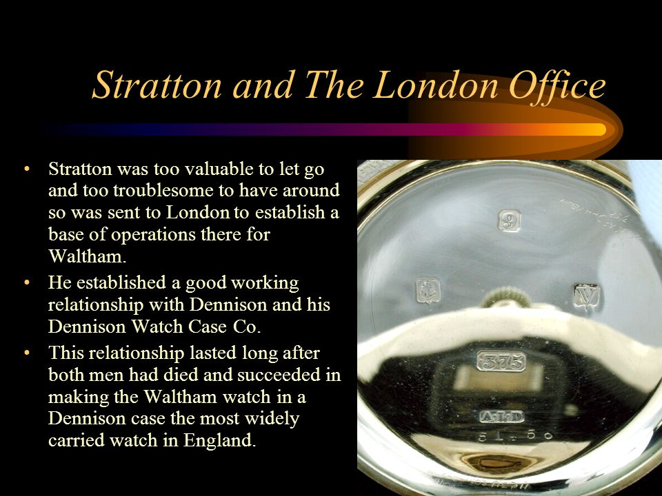 Stratton and The London Office