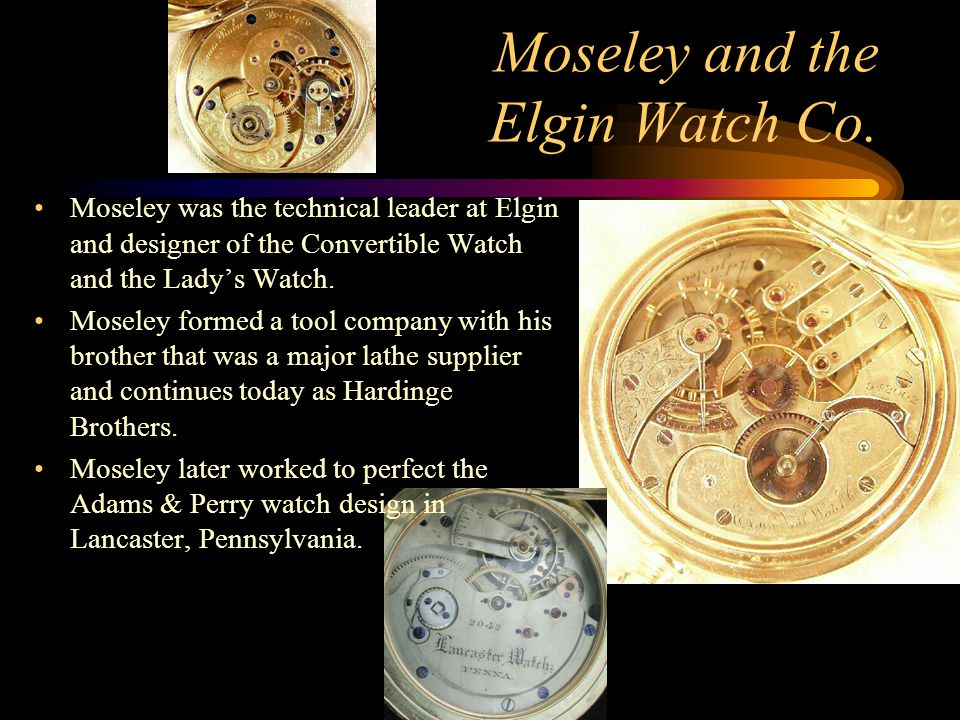 Moseley and the Elgin Watch Co.