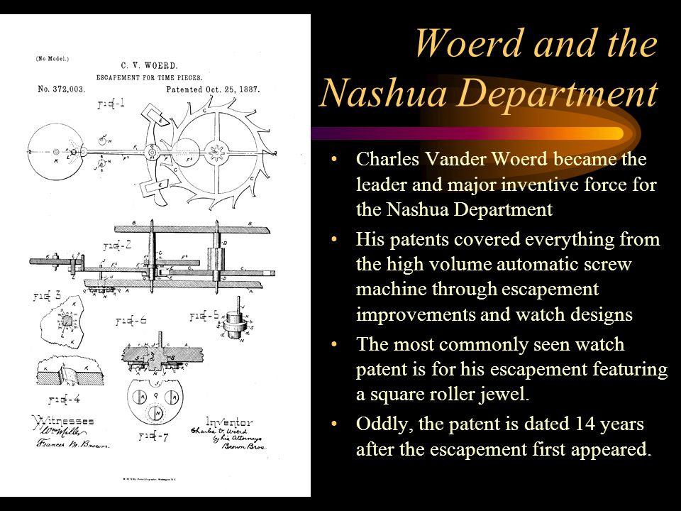 Woerd and the Nashua Department