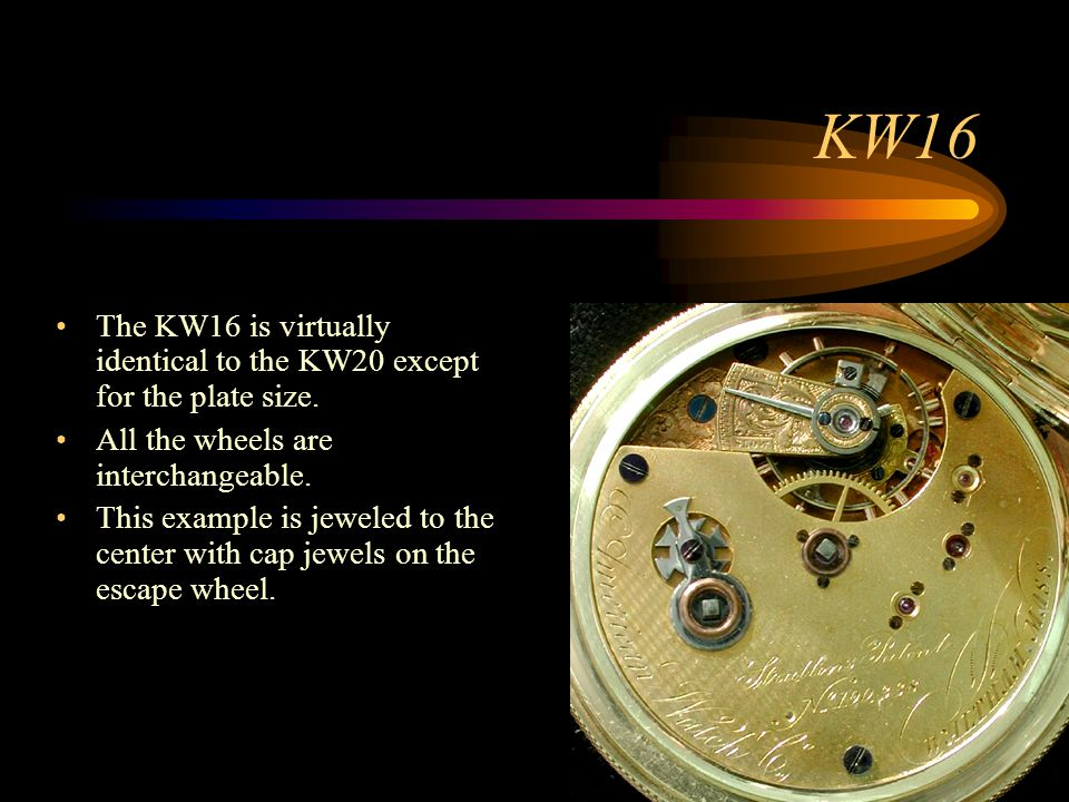 KW16 The KW16 is virtually identical to the KW20 except for the plate size. All the wheels are interchangeable.