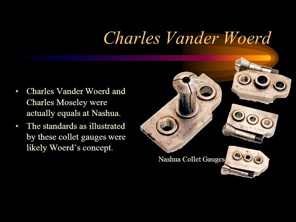 Charles Vander Woerd Charles Vander Woerd and Charles Moseley were actually equals at Nashua.