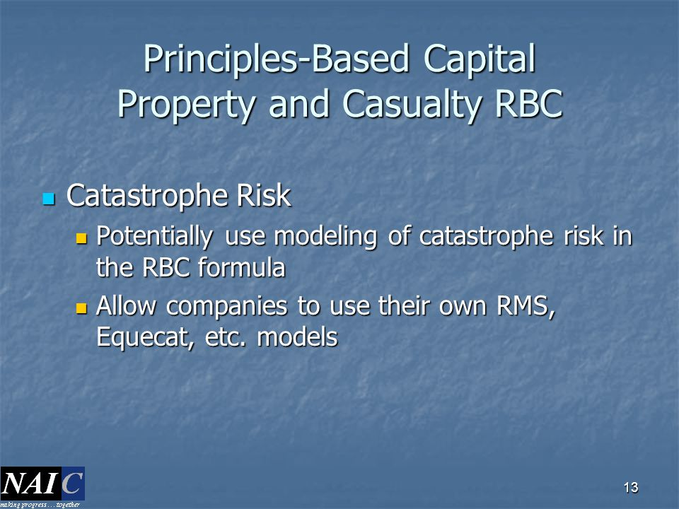 Principles-Based Capital Property and Casualty RBC