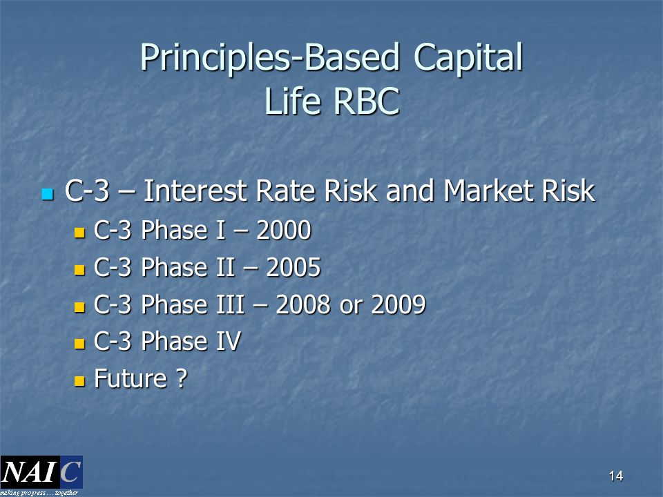 Principles-Based Capital Life RBC