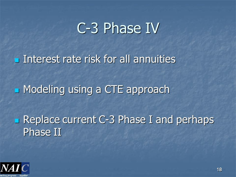 C-3 Phase IV Interest rate risk for all annuities