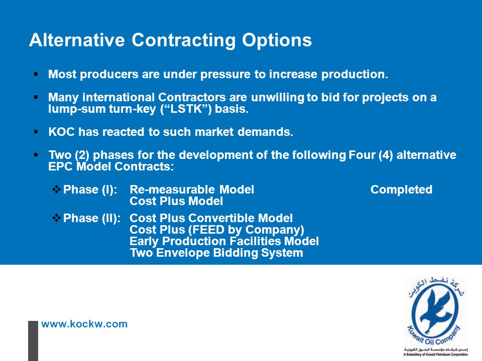 Alternative Contracting Options