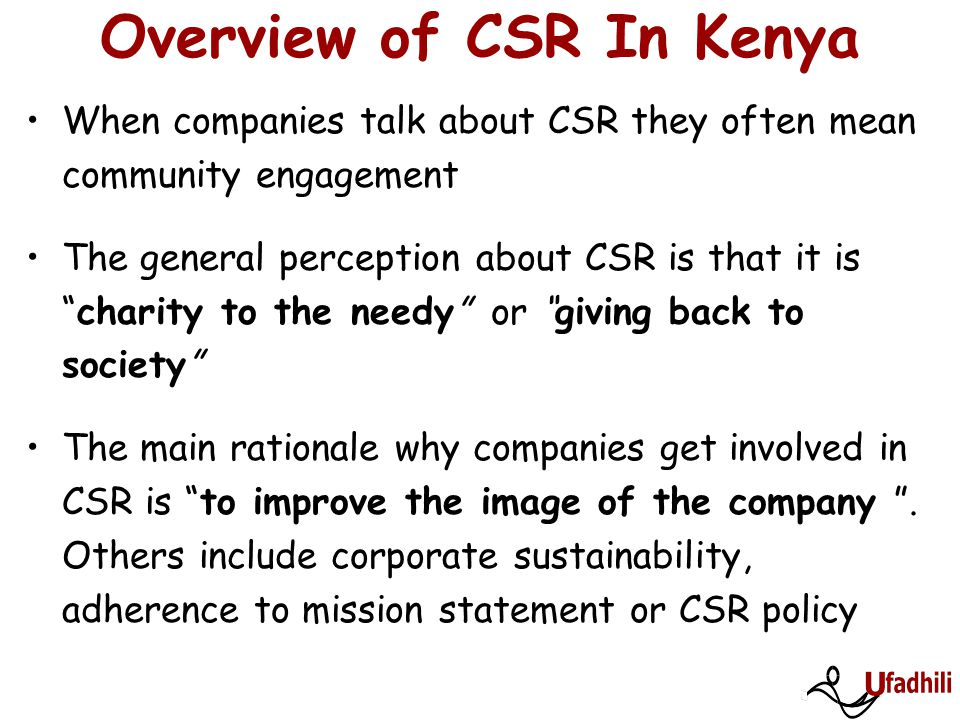 Overview of CSR In Kenya
