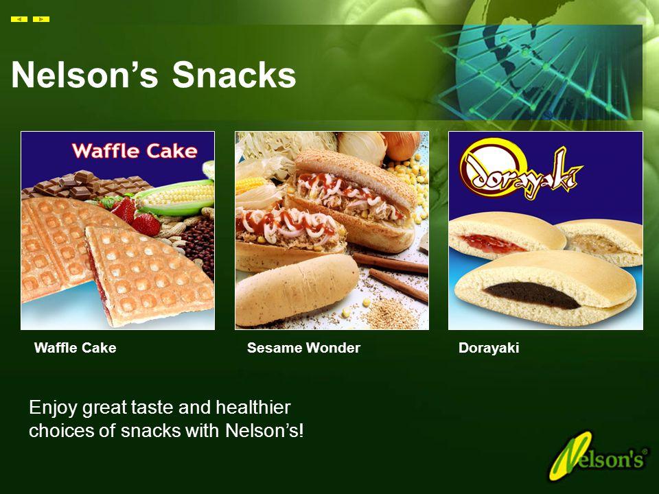 Nelson's Snacks Waffle Cake. Sesame Wonder. Dorayaki.