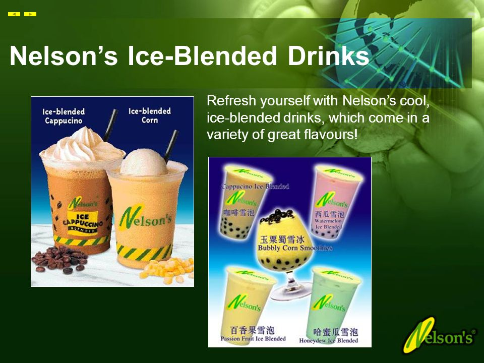 Nelson's Ice-Blended Drinks