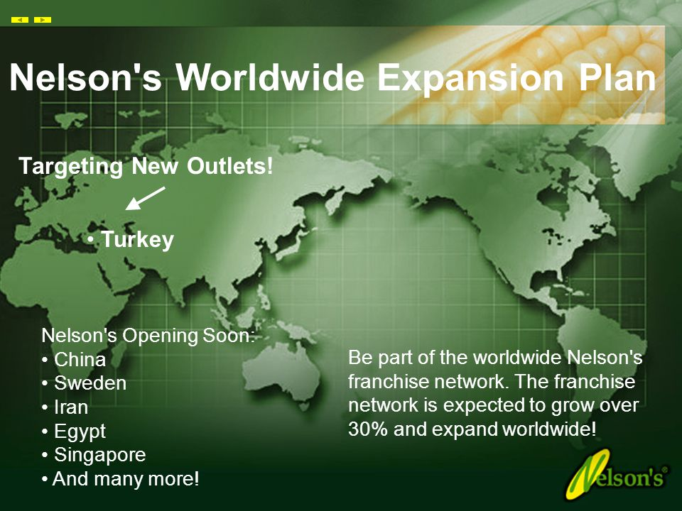Nelson s Worldwide Expansion Plan