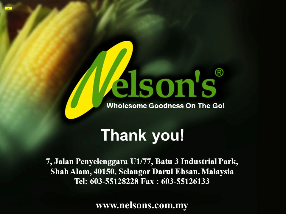 Thank you! www.nelsons.com.my