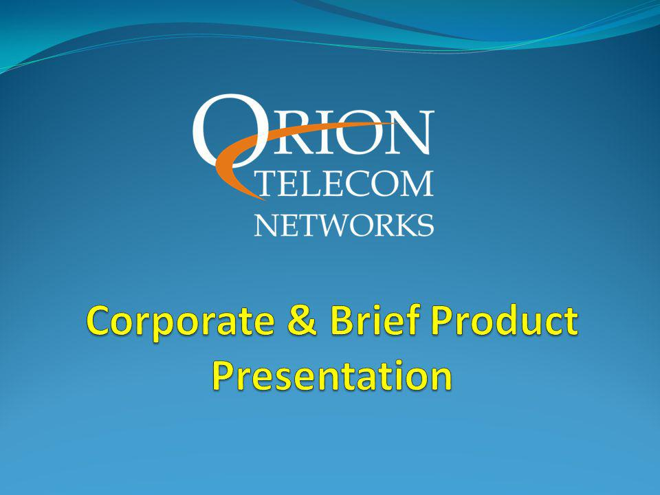 Corporate & Brief Product Presentation