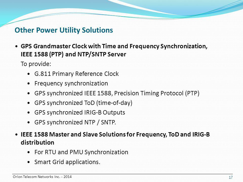 Other Power Utility Solutions