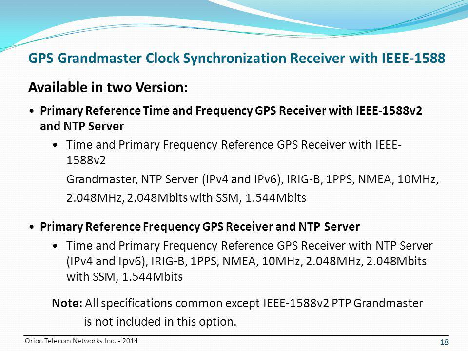 GPS Grandmaster Clock Synchronization Receiver with IEEE-1588