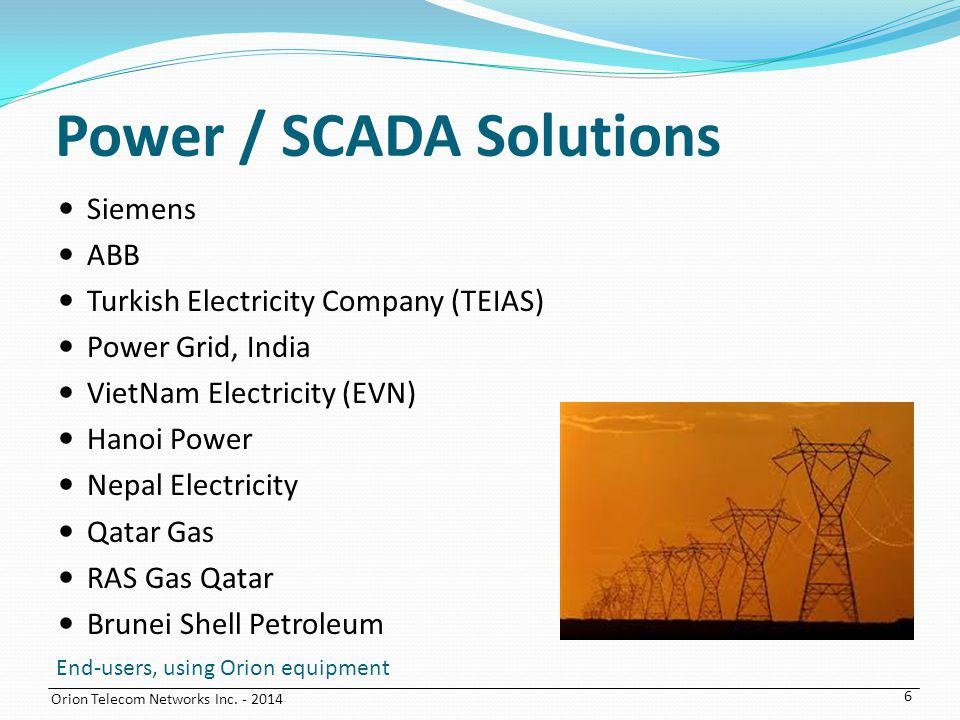 Power / SCADA Solutions