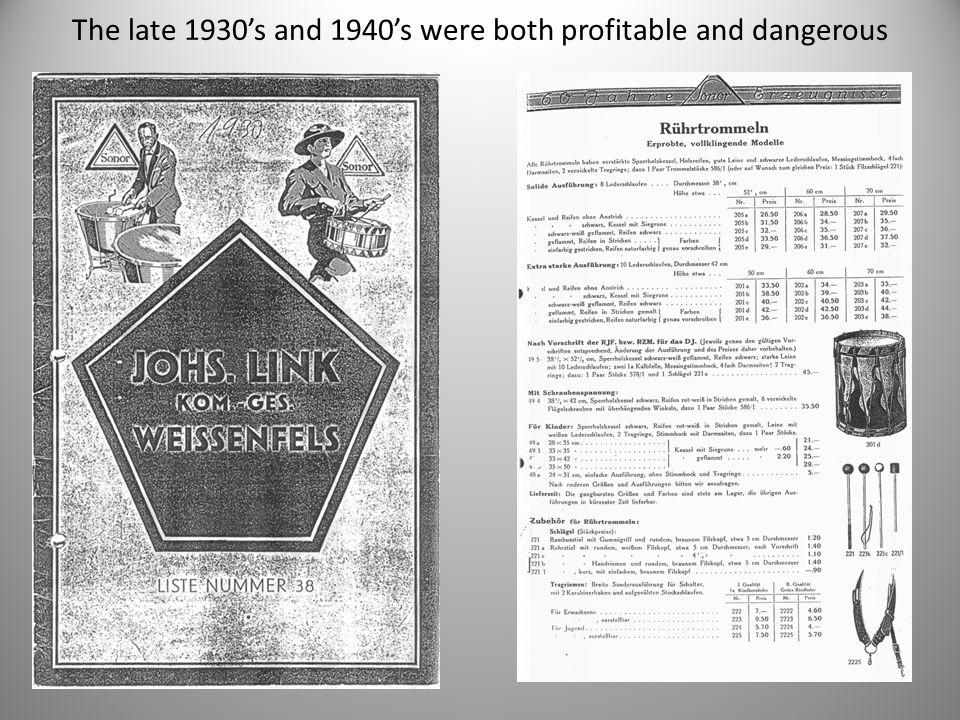 The late 1930's and 1940's were both profitable and dangerous