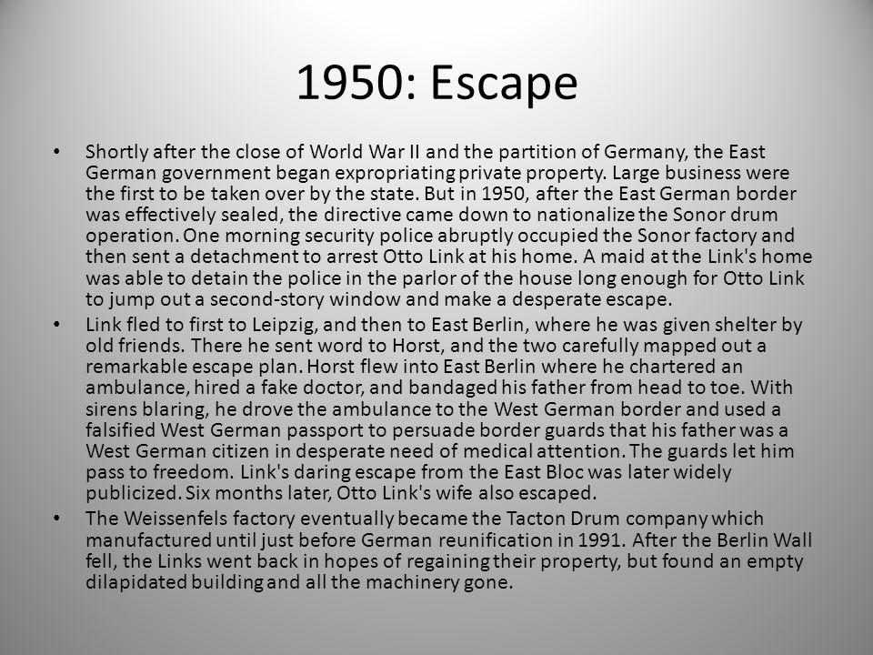 1950: Escape