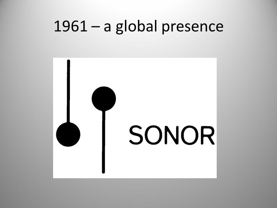 1961 – a global presence