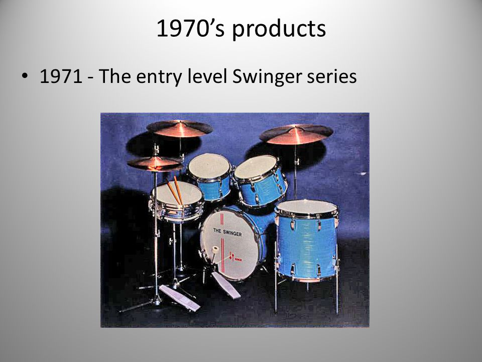 1970's products 1971 - The entry level Swinger series