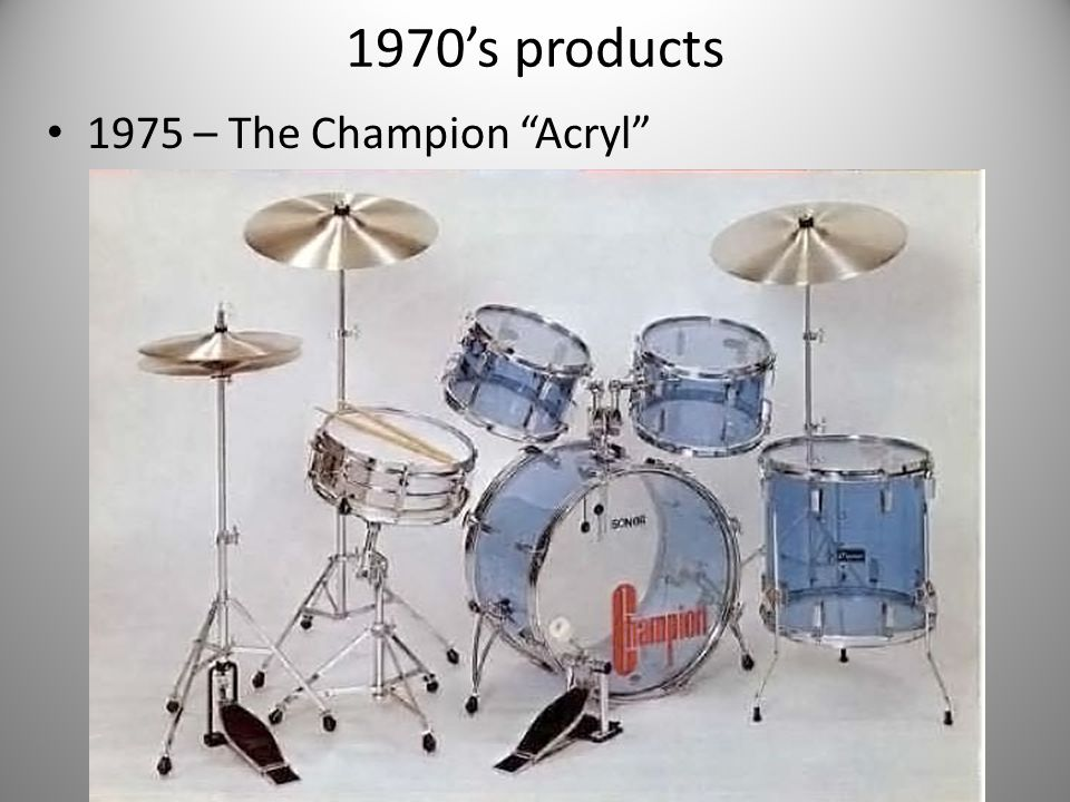 1970's products 1975 – The Champion Acryl