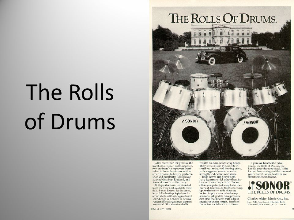The Rolls of Drums