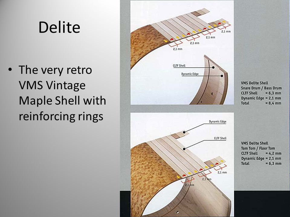 Delite The very retro VMS Vintage Maple Shell with reinforcing rings