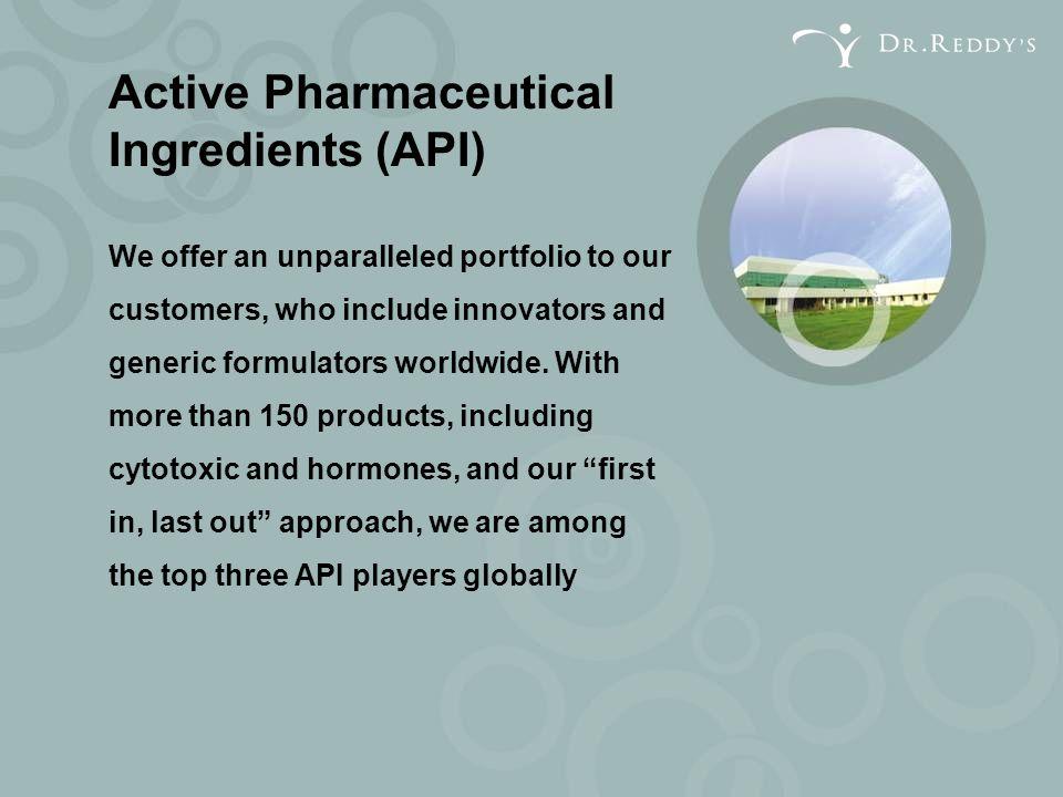 Active Pharmaceutical Ingredients (API)