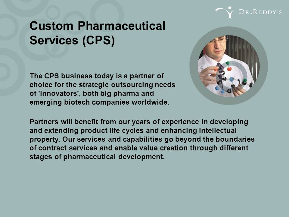 Custom Pharmaceutical Services (CPS)