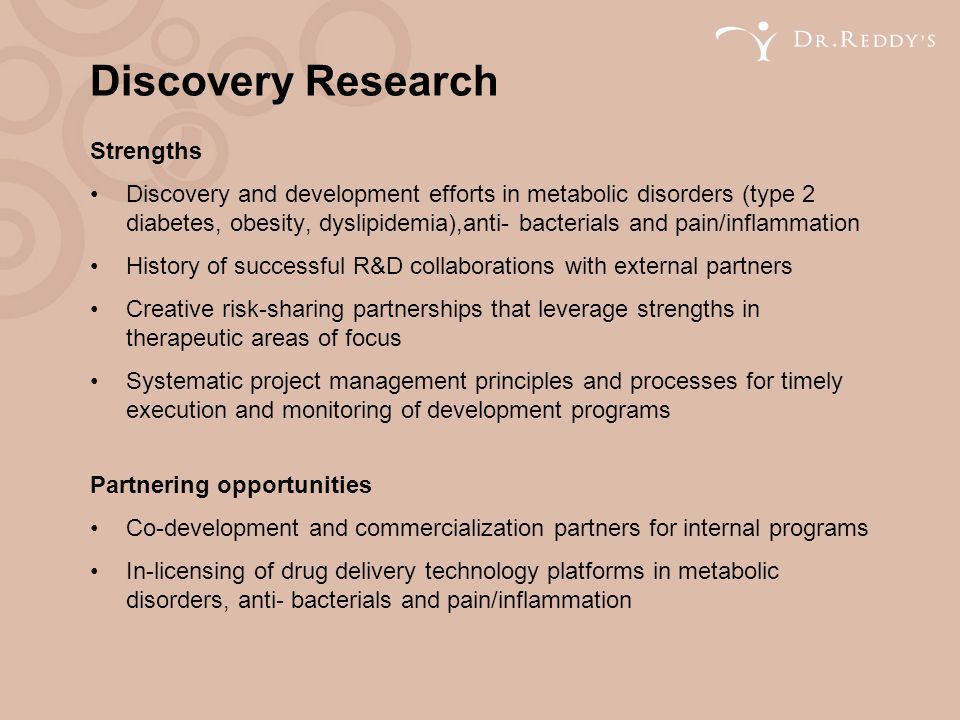 Discovery Research Strengths