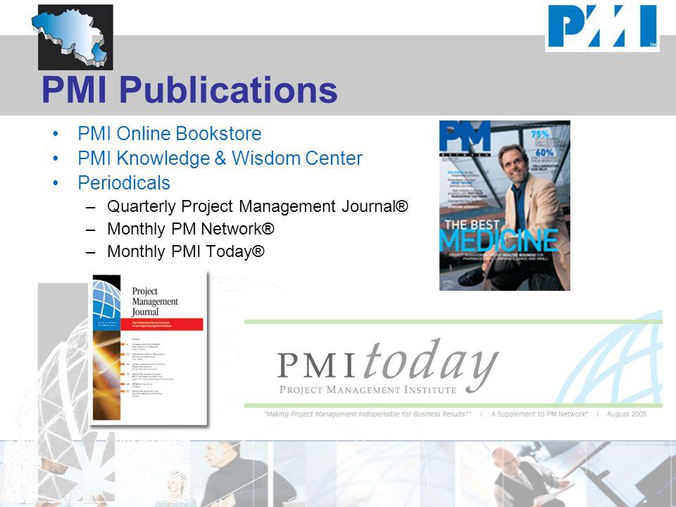 PMI Publications PMI Online Bookstore PMI Knowledge & Wisdom Center