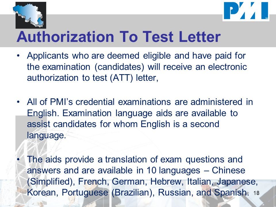 Authorization To Test Letter