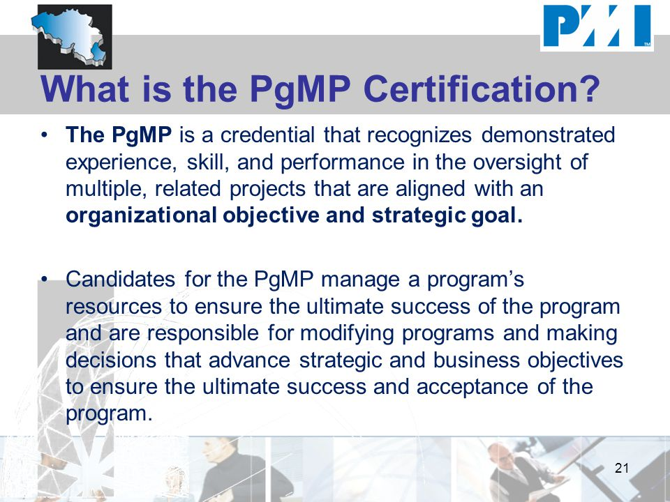 What is the PgMP Certification