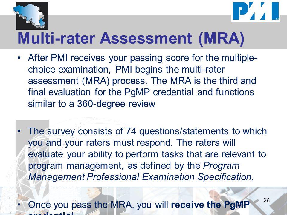 Multi-rater Assessment (MRA)