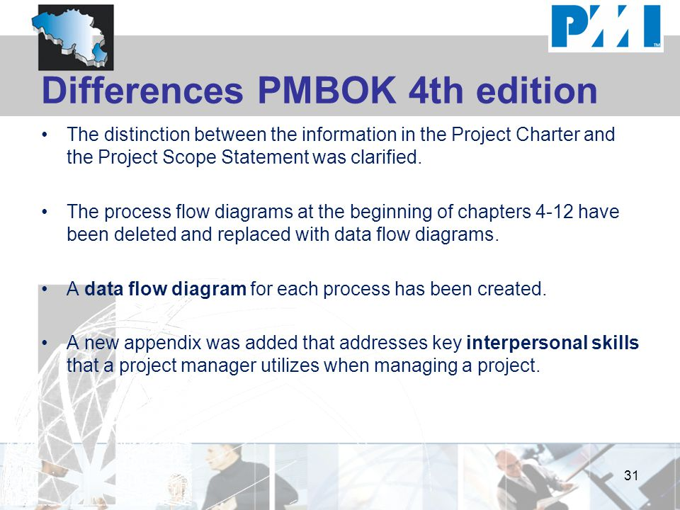 Differences PMBOK 4th edition