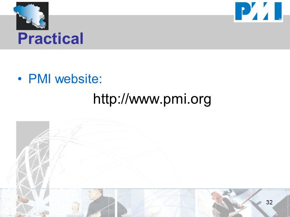 Practical PMI website: http://www.pmi.org