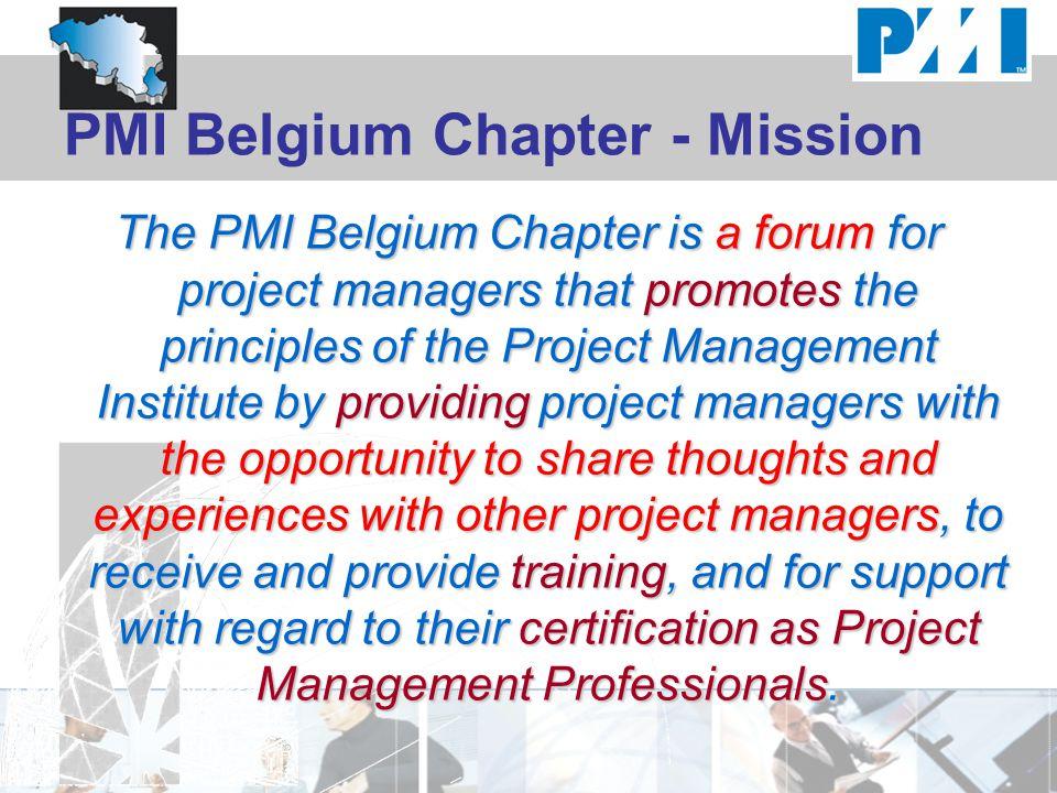 PMI Belgium Chapter - Mission