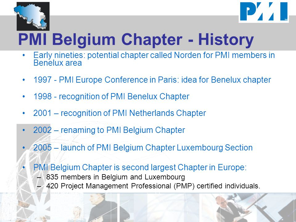 PMI Belgium Chapter - History