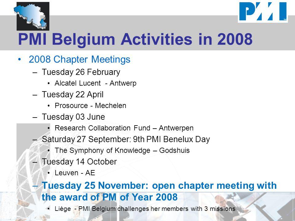 PMI Belgium Activities in 2008
