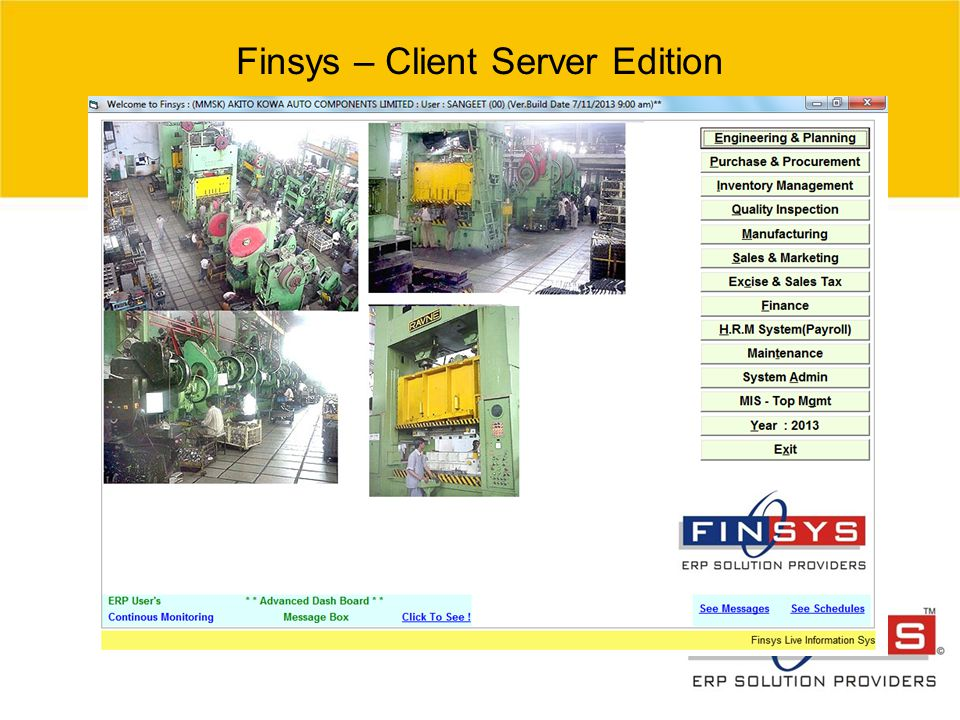 Finsys – Client Server Edition