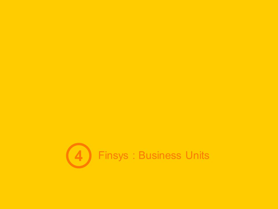 4 Finsys : Business Units