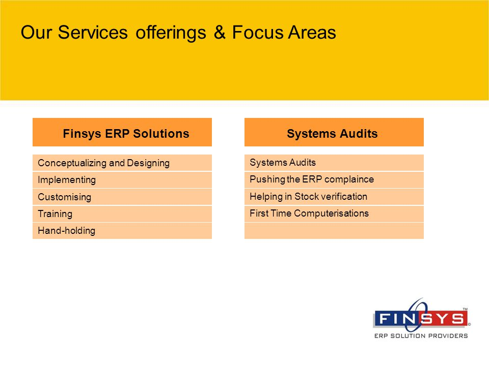 Our Services offerings & Focus Areas