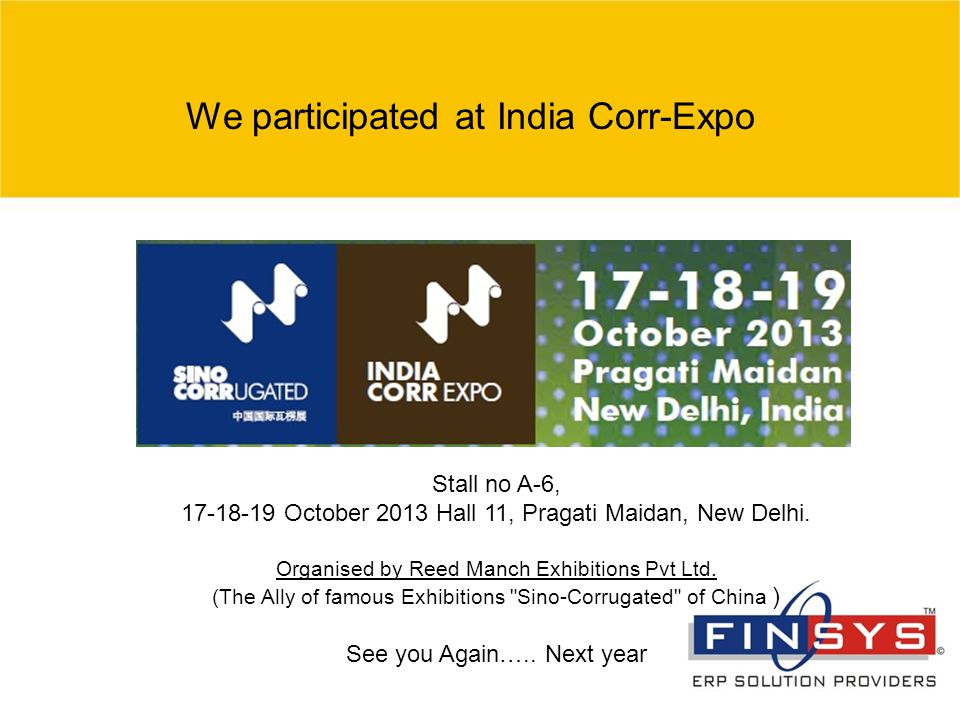 We participated at India Corr-Expo