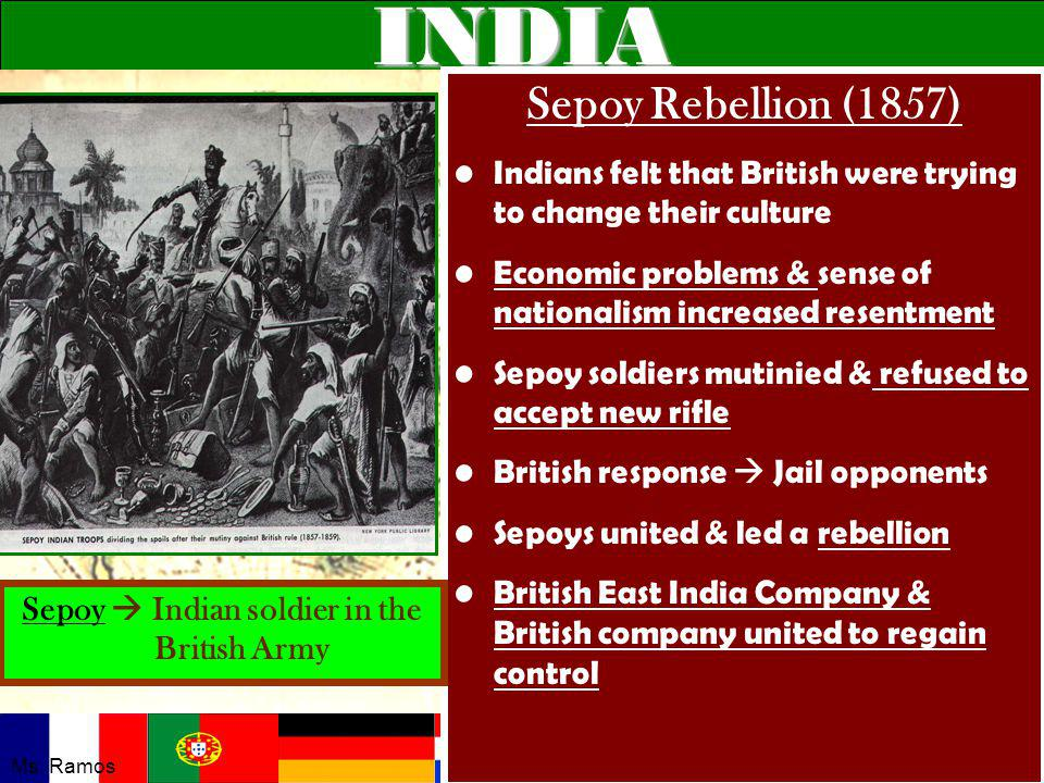 Sepoy  Indian soldier in the British Army