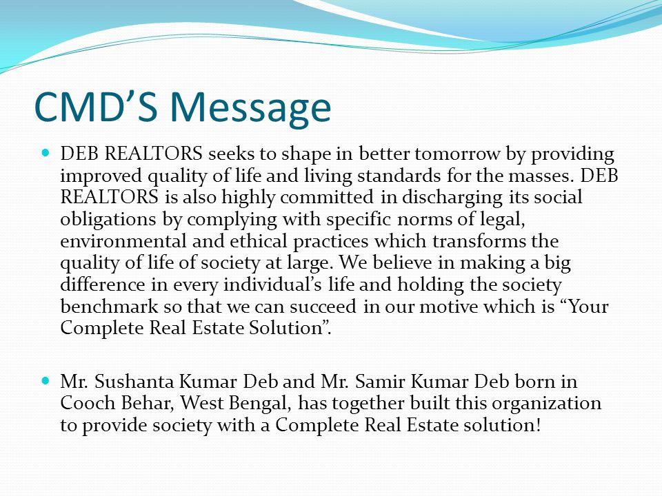 CMD'S Message