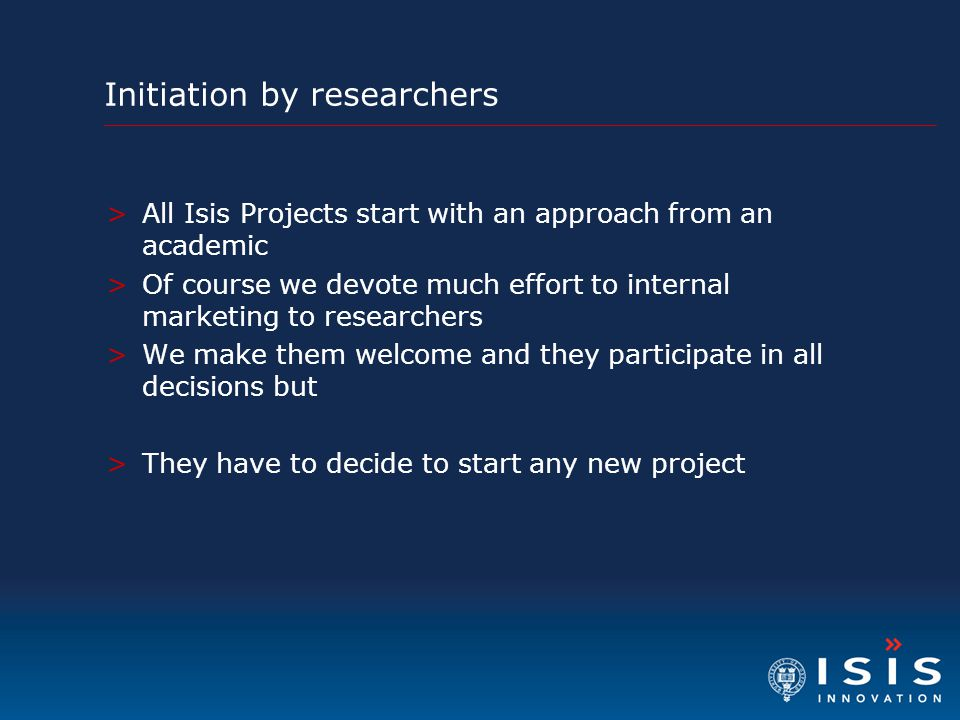 Initiation by researchers