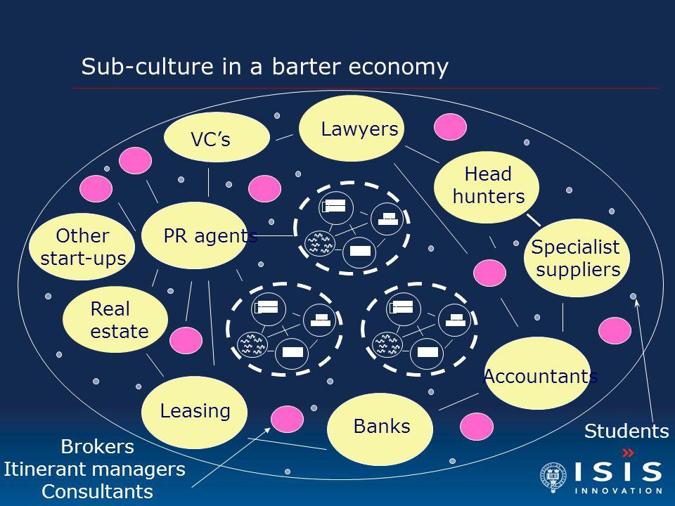 Sub-culture in a barter economy