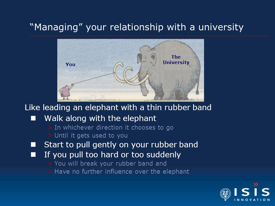 Managing your relationship with a university