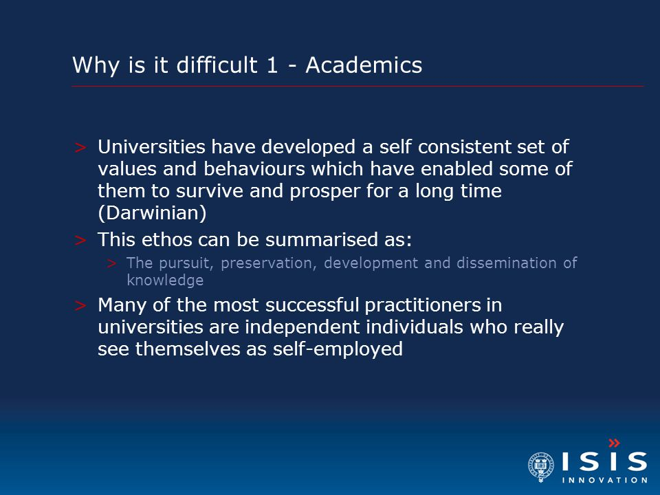 Why is it difficult 1 - Academics