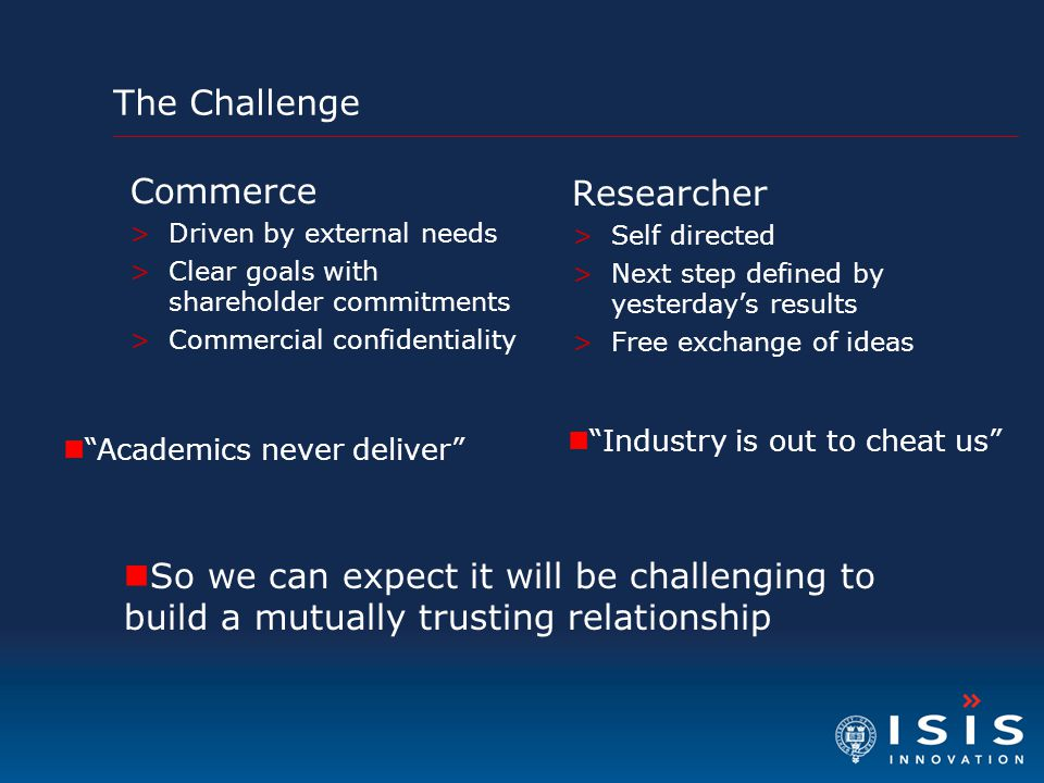 The Challenge Commerce Researcher